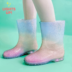 Photo of Ombre Glitter Light Up Rain Boot