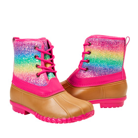 Photo of Rainbow Glitter Lace up Boot
