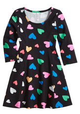 Heart Fit & Flare Dress