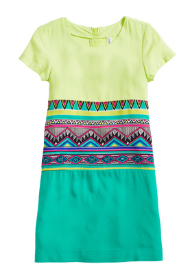 Colorblock Tribal Dress