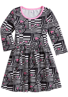 Geo Heart Twirly Dress