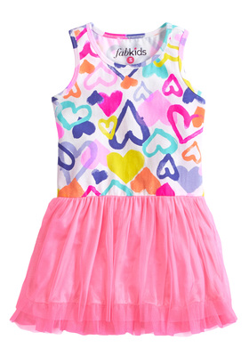 Heart Drop Waist Tutu Dress