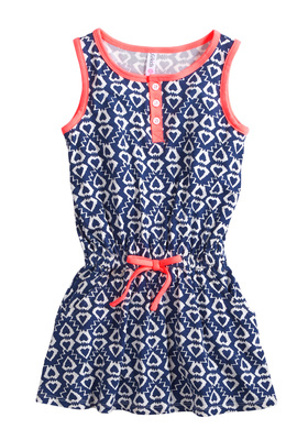 Navy Ikat Tank Dress