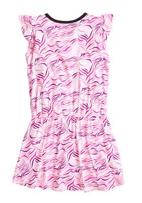 Zebra Ruffle Dress