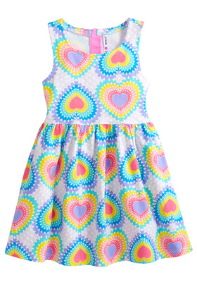 Rainbow Heart Skater Dress