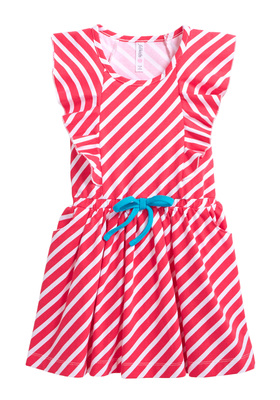 Stripe Ruffle Sleeve Dress