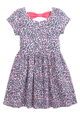 Leopard Bow Back Dress