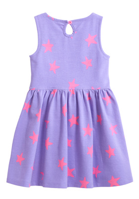 Purple Star Skater Dress