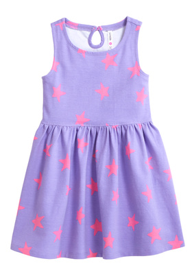 Purple Star Skater Dress