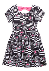 Geo Heart Bow Back Dress