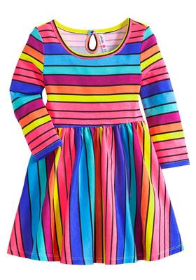 Neon Pop Skater Dress