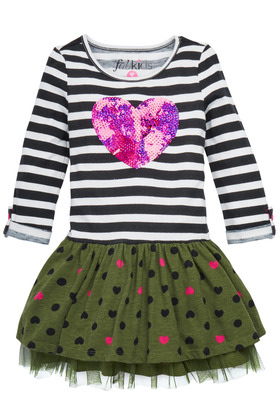 Heart & Stripes Tutu Dress