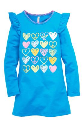 Heart Ruffle Shift Dress