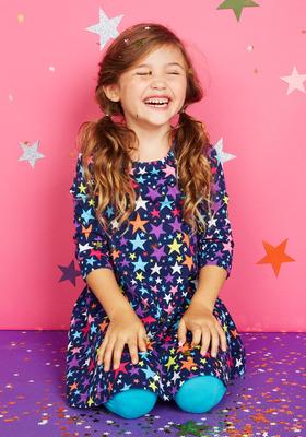 Star Fit & Flare Dress