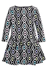 Tribal Drop Waist Dress