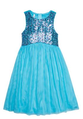 Sequin & Tulle Midi Dress