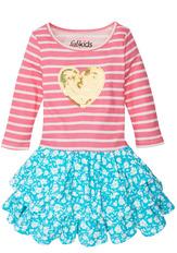 Sparkle Heart Ruffle Dress