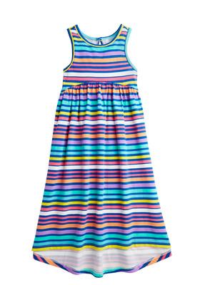 Stripe Hi-Low Maxi Dress