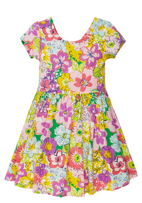 Floral Bow Back Dress