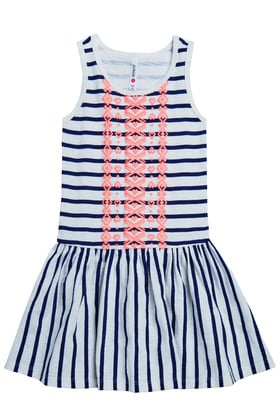 Stripe Drop-waist Dress
