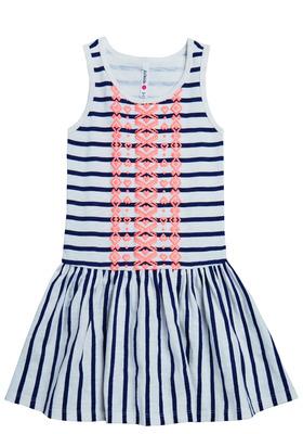 Stripe Drop-waist Dress