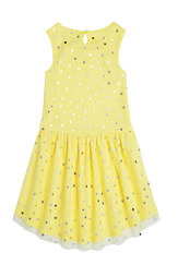 Dot Tulle Hi-Low Dress