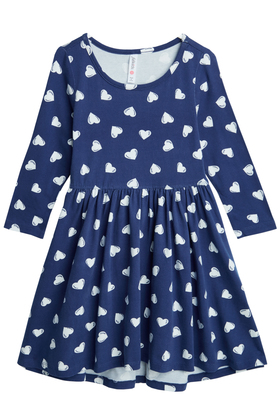 Heart Hi-Low Skater Dress