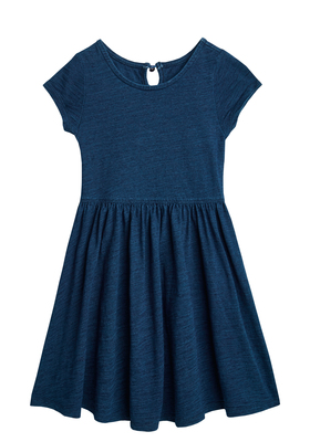 Indigo Knit Skater Dress