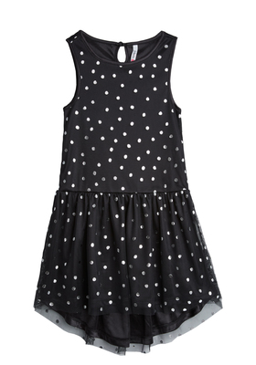 Hi-Low Silver Dot Tutu Dress