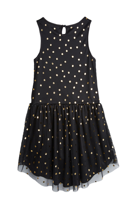 Hi-Low Gold Dot Tutu Dress