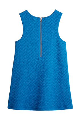 Mod Quilted Zipper Dress
