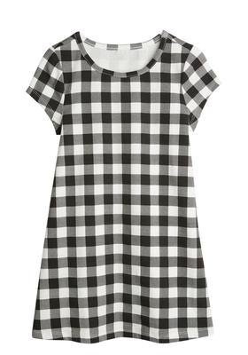 Gingham Print A-Line Dress