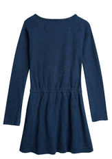 Indigo Knit Sweatshirt Dress