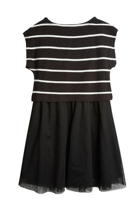 Stripe Popover Tutu Dress