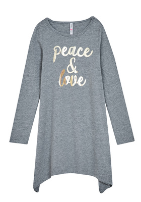 Peace & Love T-Shirt Dress