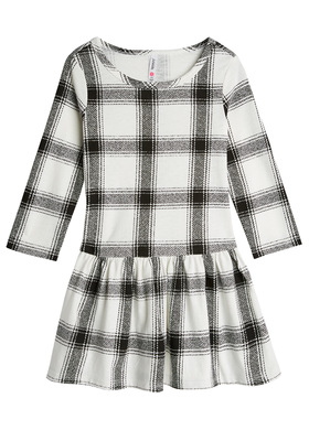 Plaid Drop-Waist Dress