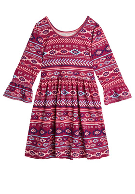 Tribal Bell Sleeve Dress