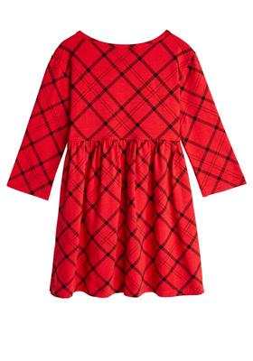 Plaid Loose Babydoll Dress