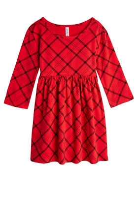 Plaid Loose Babydoll Dress
