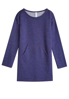 Indigo Pocket Sweatshirt Dress