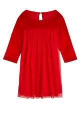 Velvet Tulle Babydoll Dress