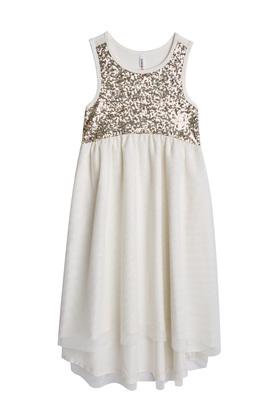 Tulle Sequin Midi Dress