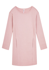 Pink Sweatshirt Dress