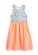 Neon Geo Midi Dress
