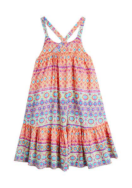 Geo Cross Back Hi-Low Dress