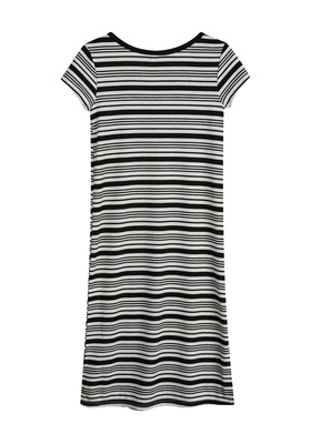 Rib-Knit Midi T-Shirt Dress