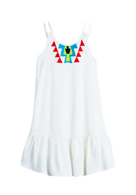 Double Strap Embroidered Dress