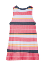 Striped Rib-Knit Tank Dress