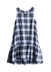 Hi-Low Plaid Tank Dress