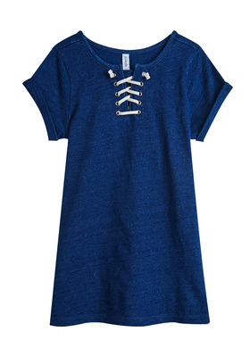 Lace Up Tee Dress